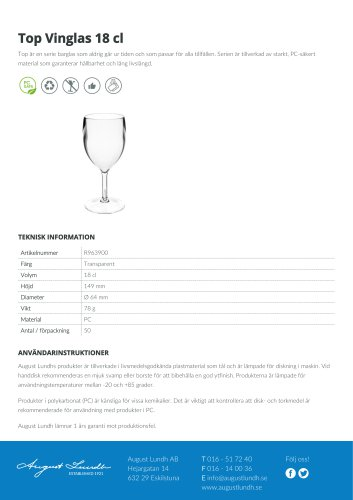 Top Wine glass 18 cl