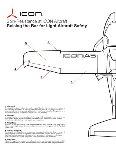 Spin-Resistance at ICON Aircraft Raising the Bar for Light Aircraft Safety