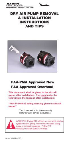 DRY AIR PUMP REMOVAL & INSTALLATION INSTRUCTIONS AND TIPS