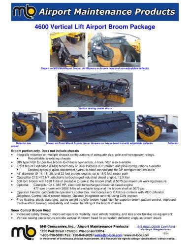 4600 Vertical Lift Broom Package