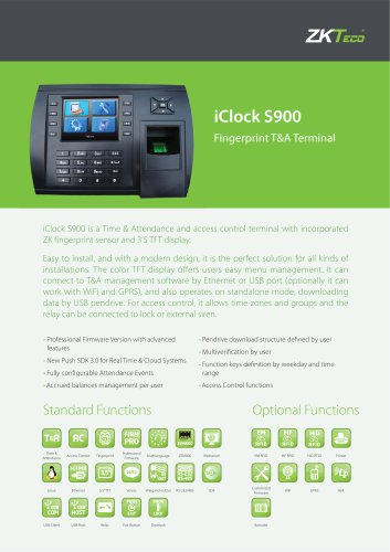 iClock S900