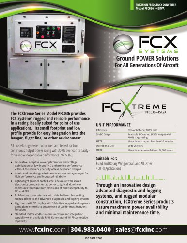 FCXTREME PFC036 - 45 KVA