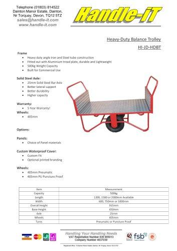 Heavy-Duty Balance Trolley HI-JD-HDBT