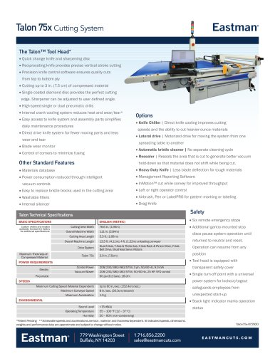 Talon 75x Cutting System