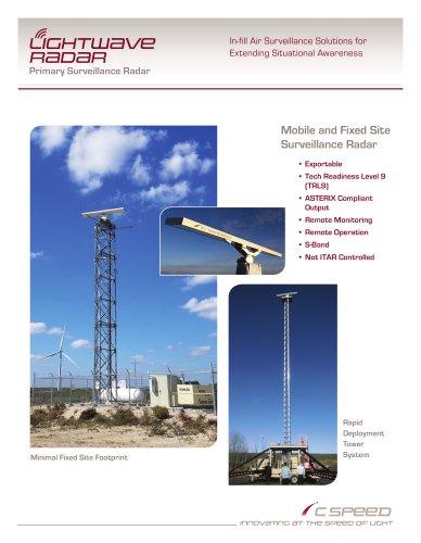 Lightwave radar Primary Surveillance Radar