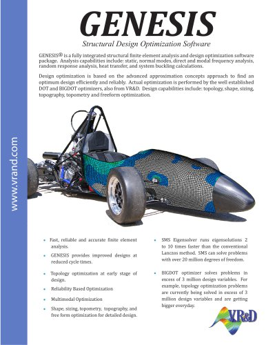 GENESIS Structural Design Optimization Software