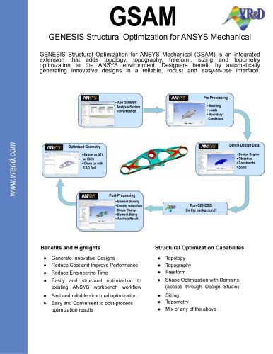 GSAM GENESIS Structural Optimization for ANSYS Mechanical