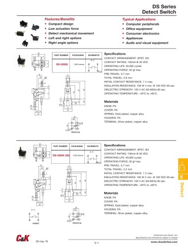 DS Series Detect Switch