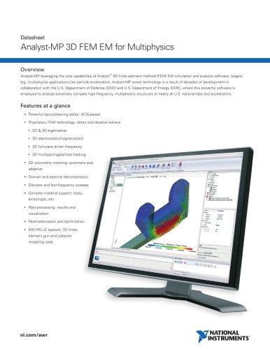 Analyst-MP 3D FEM EM for Multiphysics