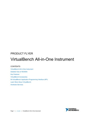 VirtualBench All-in-One Instrument