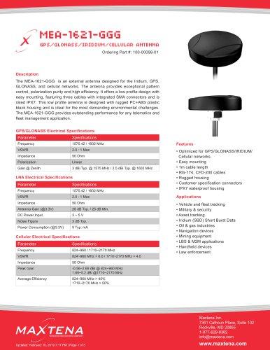 External Iridium Passive Antenna – Screw Mount