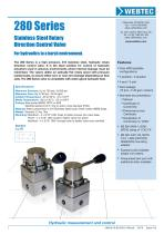280 Series Stainless Steel Rotary Direction Control Valve