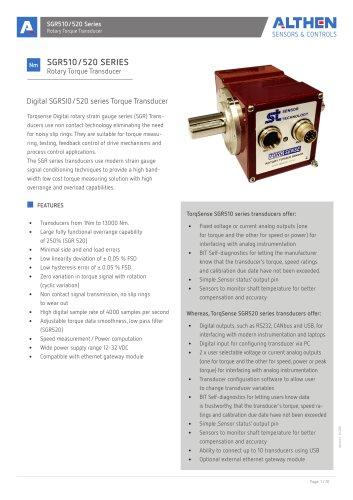 SGR510/520 Torque Sensor