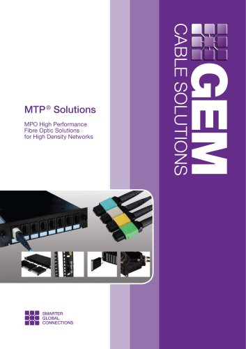 MPO High Performance Fibre Optics for High Density Networks