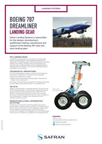 BOEING 787 DREAMLINER LANDING GEAR