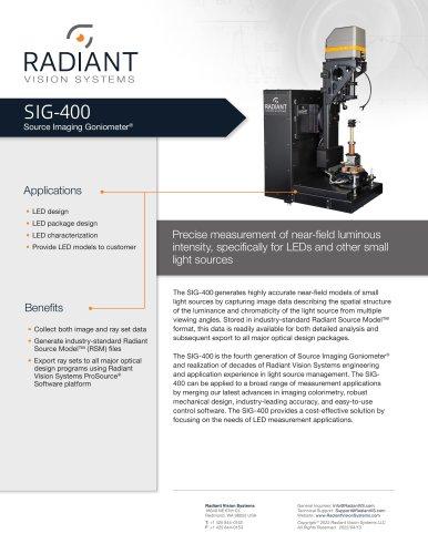 Source Imaging Goniometer® (SIG-400)