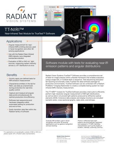 TT-NIRI™ Near-Infrared Test Software